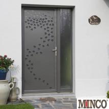 Portes contemporaines aluminium56 for Porte d entree minco