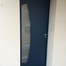 Porte aluminium demi-lune à plescop
