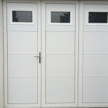 Porte De Garage Vantaux Aluminium Réalisée à Sainte Anne DAuray - Porte de garage 3 vantaux