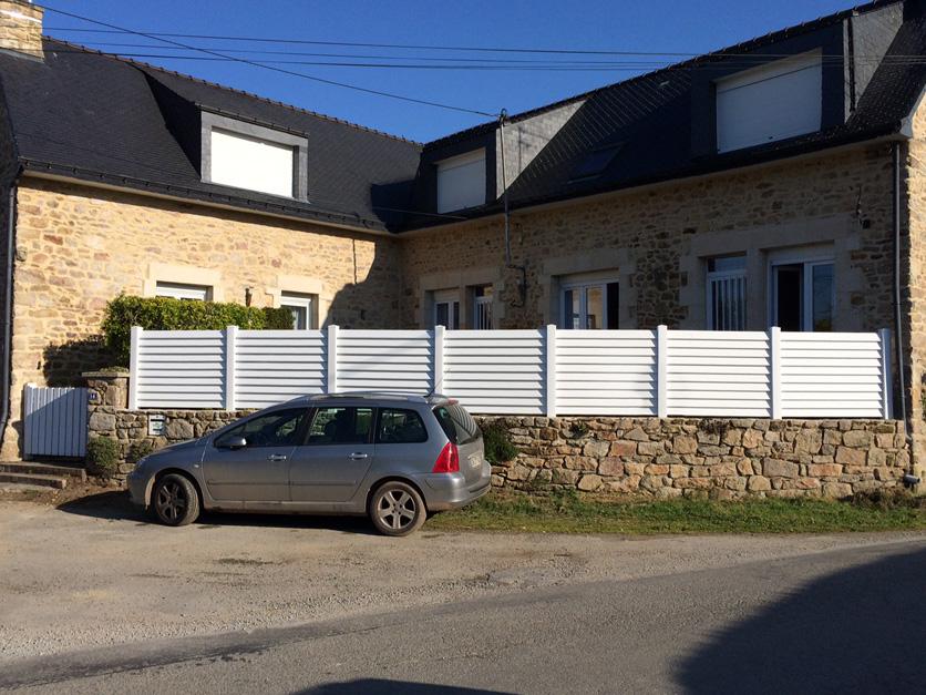 Clôture PVC Pare-vue réalisée à Sainte Anne d'Auray