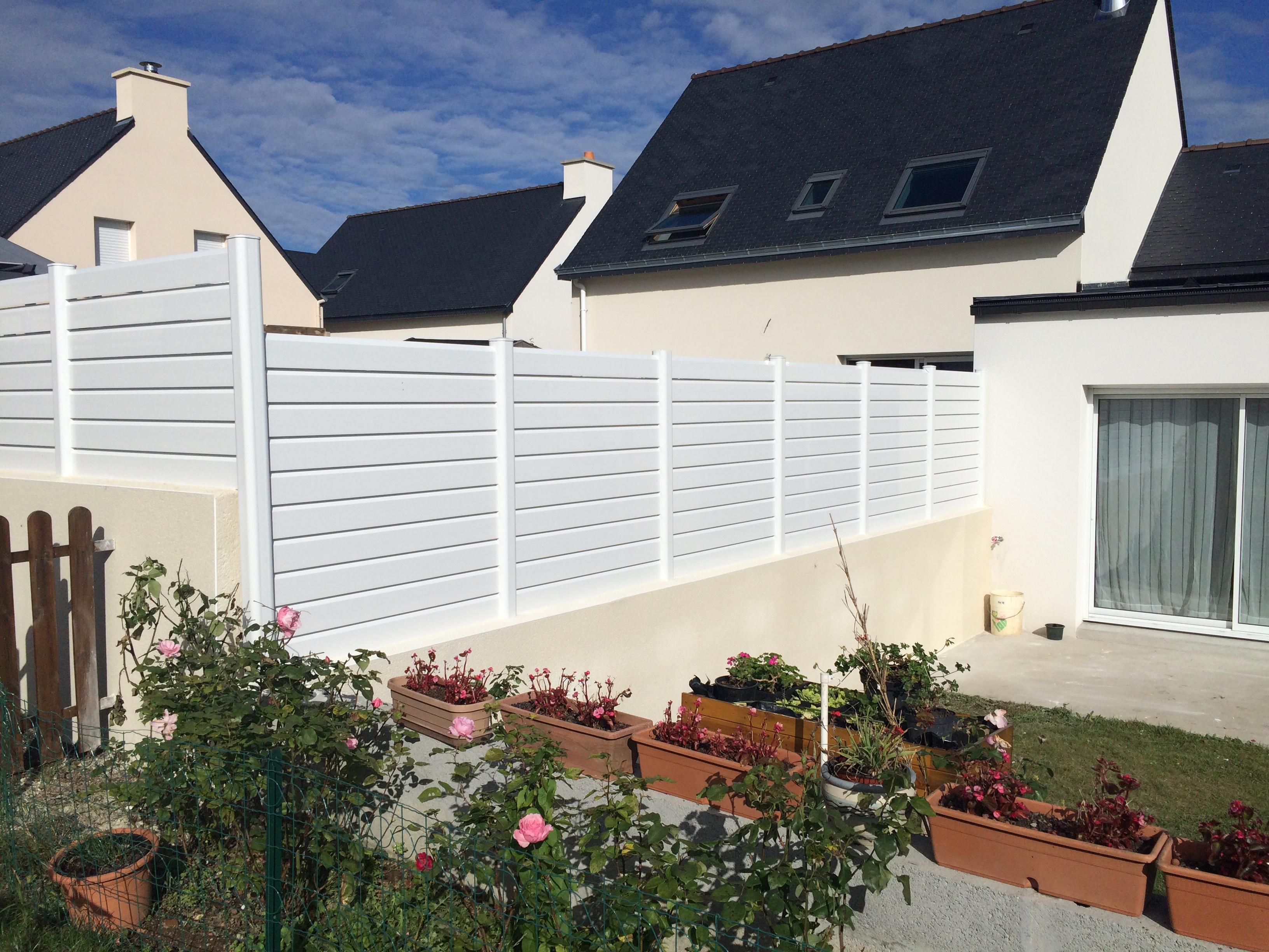 Brise-Vue en PVC réalisé à Auray