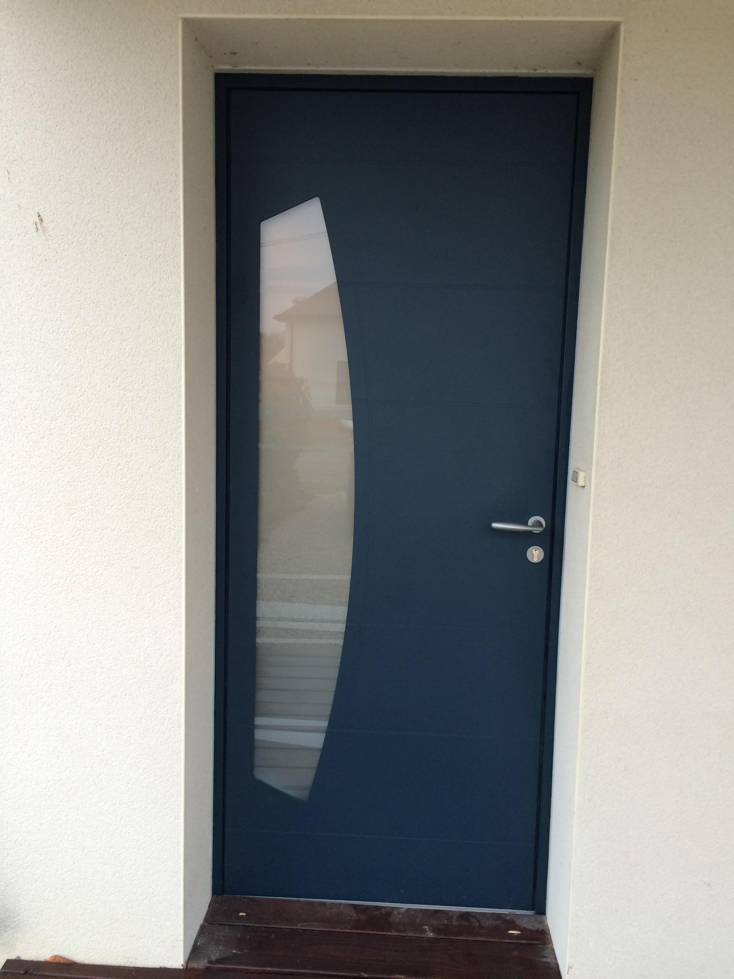 Porte demi lune BELM aluminium à Plescop