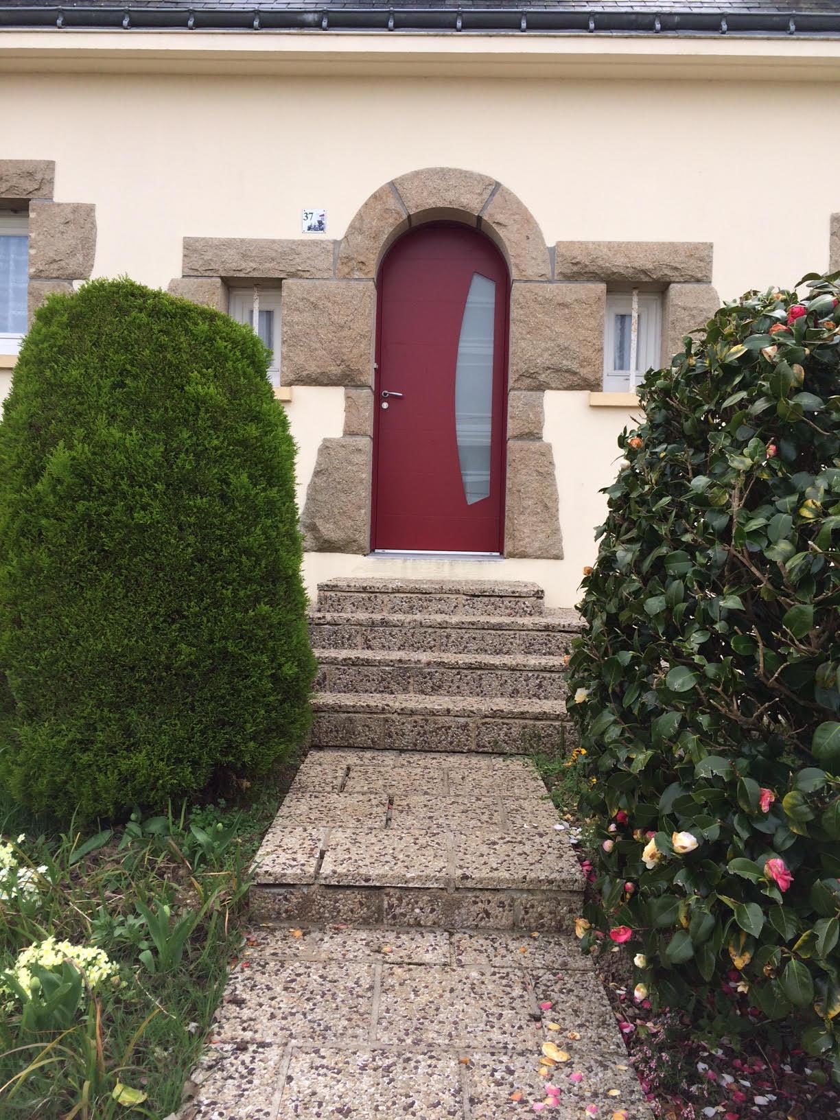 Porte d'entrée réalisée à Hennebont