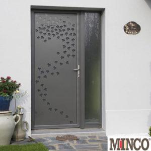 Porte mixte bois/aluminium