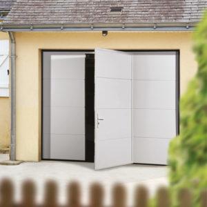 Porte sectionnelle plafond avec porte